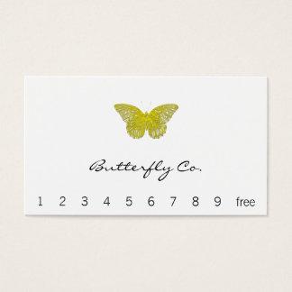 Letterpress Style Butterfly Business Card