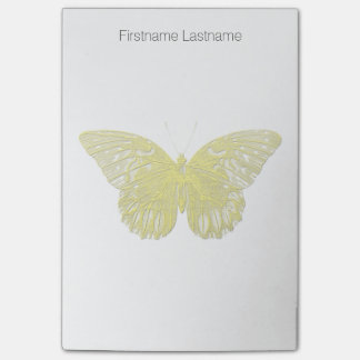 Letterpress Style Butterfly Post-it® Notes