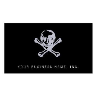 Letterpress Style Jolly Roger Business Card