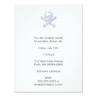Letterpress Style Jolly Roger Card