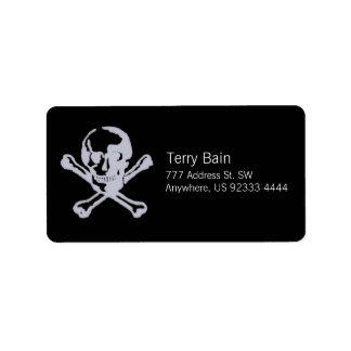 Letterpress Style Jolly Roger Label