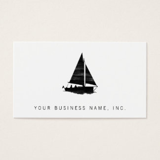 Letterpress Style Sailboat Business Card
