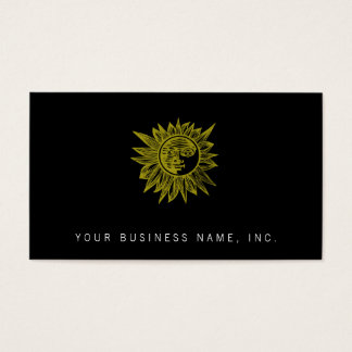 Letterpress Style Sun Business Card