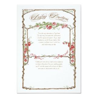 Letterpress Style Vintage Faux Bois Trellis - Red Personalized Invite
