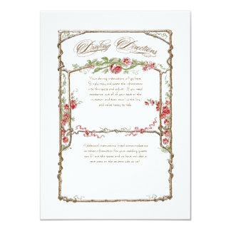 Letterpress Style Vintage Faux Bois Trellis - Red Invite