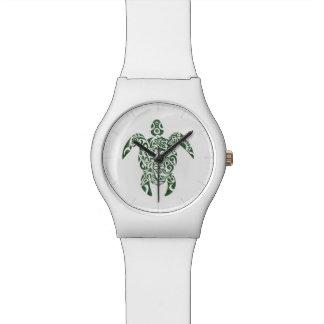 Letterpress Tribal Style Turtle Watch