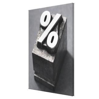 % Letterpress type Canvas Print