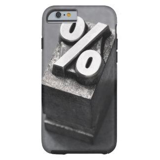 % Letterpress type Tough iPhone 6 Case