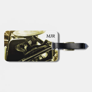 Letterpress view luggage tag