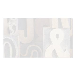 letterpress wood type business card