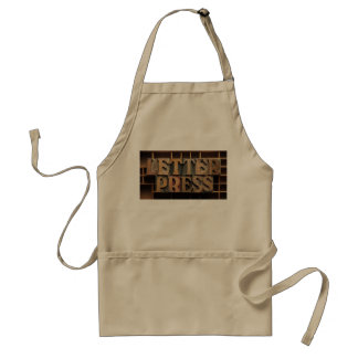 letterpress word apron
