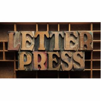 letterpress word photo sculpture