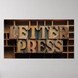 letterpress word poster