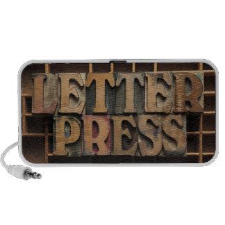 letterpress word speaker