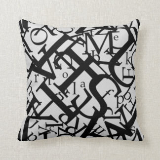 Letters and More Letters Pillow