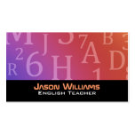 Letters and Numbers  Business Cards