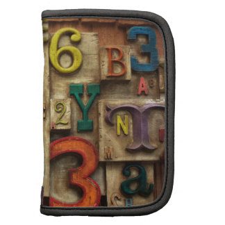 letters and numbers folio planners