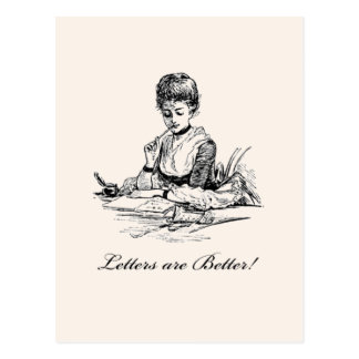 Letters Are Better Postcard