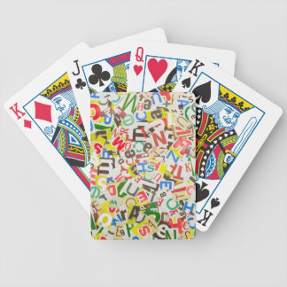 Letters Bicycle Playing Cards