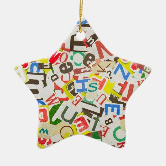 Letters Ceramic Ornament