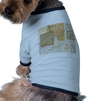 letters doggie tee shirt