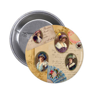Letters Fans and Women Button