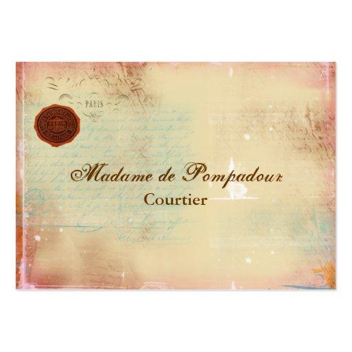 Letters from Paris Elegant Script Business Cards
