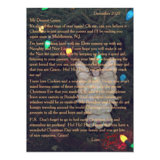 Letters from Santa Angel Lights Card