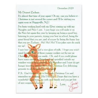 Letters from Santa Blue Eyed Reindeer Card