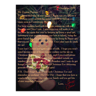 Letters from Santa Gingerbread Man Card