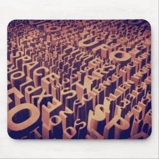Letters From Space Mouse Pad