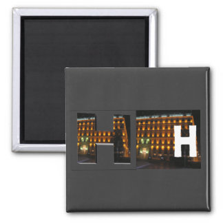 Letters - H - Hotel 2 Inch Square Magnet