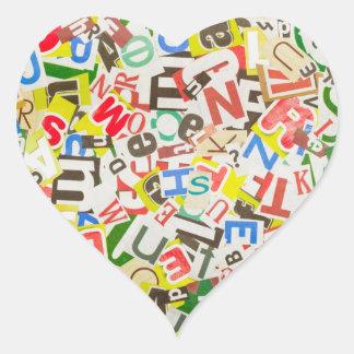 Letters Heart Sticker