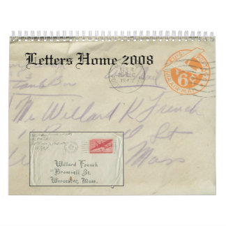 Letters Home 2008 Wall Calendars