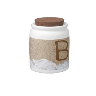 LETTERS IN THE SAND B CANDY DISH
