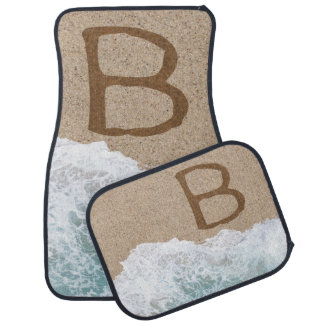 LETTERS IN THE SAND B CAR MAT