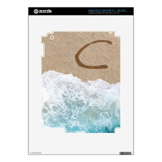 LETTERS IN THE SAND C iPad 3 DECAL
