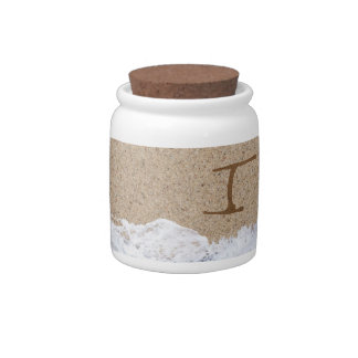 LETTERS IN THE SAND I CANDY JAR
