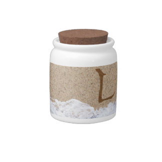 LETTERS IN THE SAND L CANDY DISH