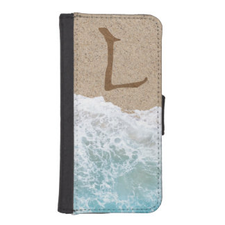 LETTERS IN THE SAND L WALLET PHONE CASE FOR iPhone SE/5/5s