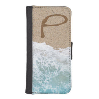 LETTERS IN THE SAND P PHONE WALLETS