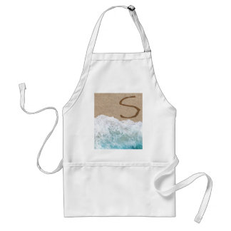 LETTERS IN THE SAND S ADULT APRON