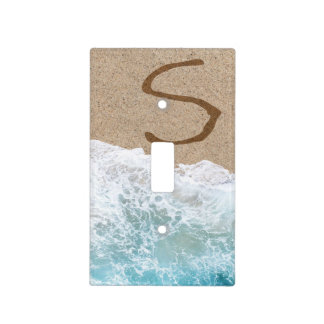 LETTERS IN THE SAND S LIGHT SWITCH COVER