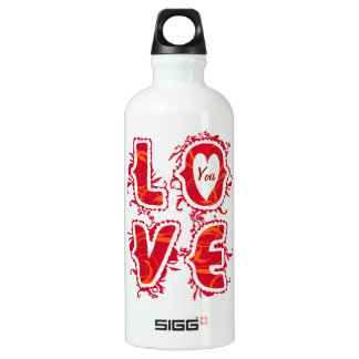 Letters love - customizable liberty bottle