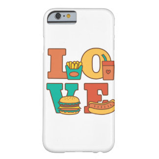 Letters Love Fast Food Burger Hot Dog Soda Fries Barely There iPhone 6 Case