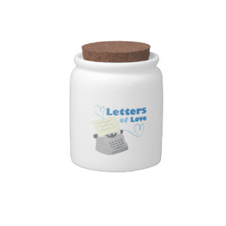 Letters Of Love Candy Jars