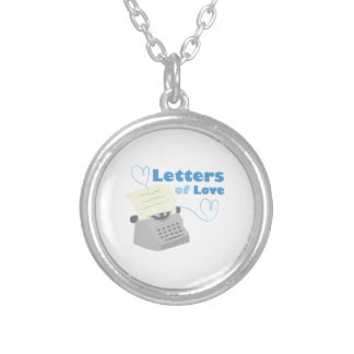 Letters Of Love Round Pendant Necklace