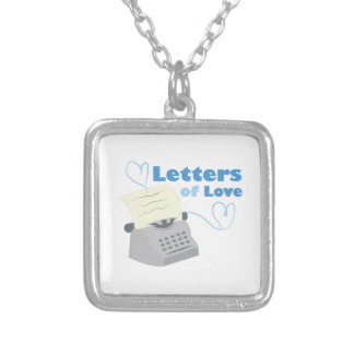 Letters Of Love Square Pendant Necklace