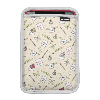 Letters of love with wings, bows, clocks and pens sleeve for iPad mini