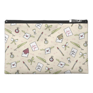 Letters of love with wings, bows, clocks and pens travel accessories bags